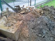 Vytěžený obsah ze studny