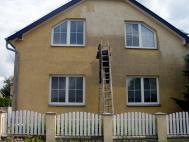 Čištění fasády rodinného domku