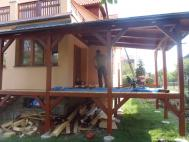 Průběh stavby terasy