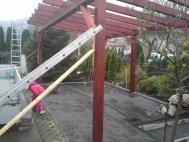 Stavba konstrukce garážového stání